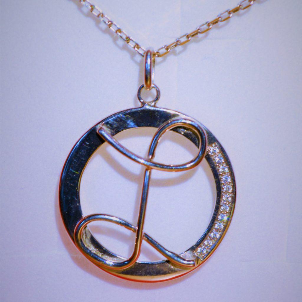 Pendentif Lilwenn argent oxydes de zirconium les bijoux de mel artisan bijoutier joaillier sur mesure
