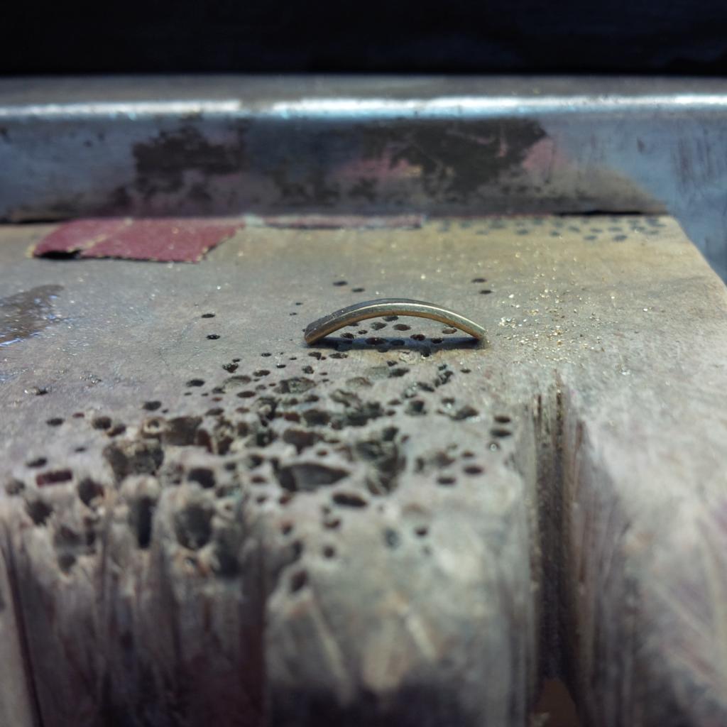 Restauration Transformation Bague Or Jaune Rubis Diamant Les Bijoux de Mel artisan bijoutier joaillier sur mesure atelier bidart