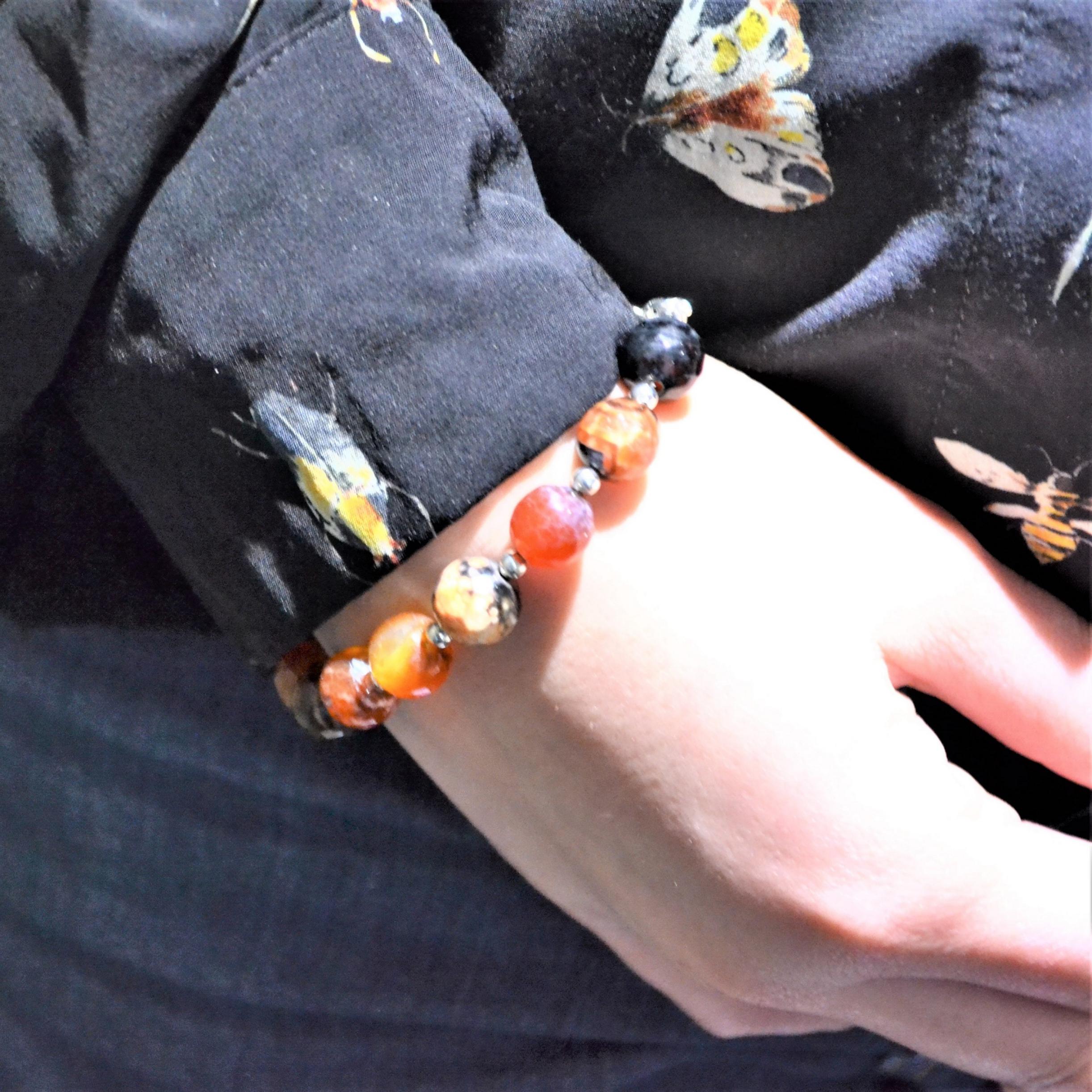 Fantaisie- Bracelet-Agate les bijoux de mel artisan bijoutier joaillier création sur mesure