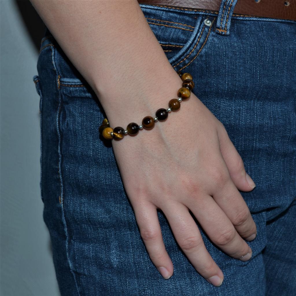 Fantaisie- Bracelet-Oeil de Tigre les bijoux de mel artisan bijoutier joaillier création sur mesure