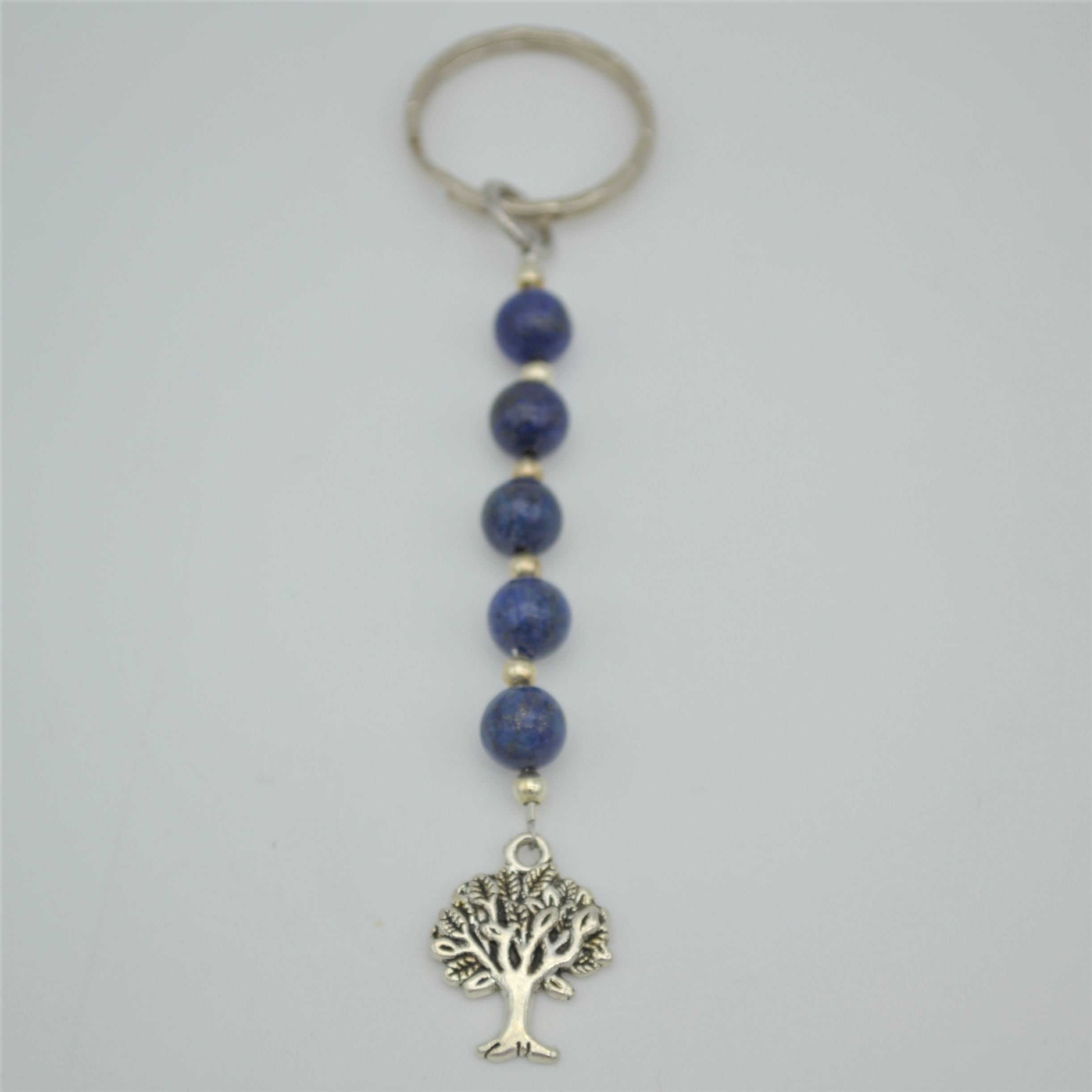 Fantaisie-Porte Clés- Lapis Lazuli-Arbre de Vie les bijoux de mel artisan bijoutier joaillier création sur mesure