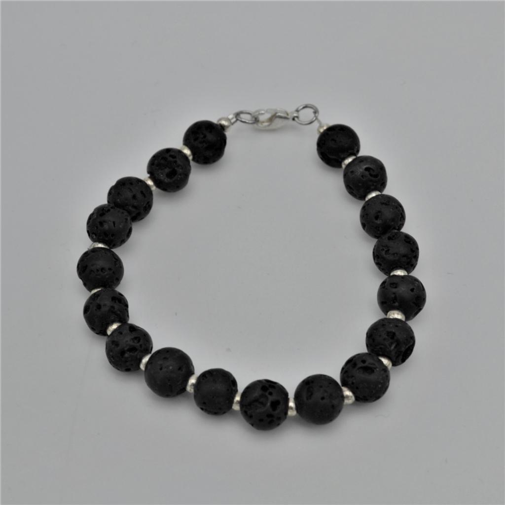 Fantaisie- Bracelet Pierre de lave les bijoux de mel artisan bijoutier joaillier création sur mesure